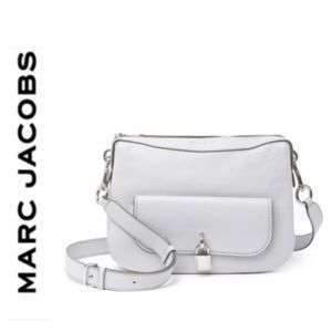 NWT Marc Jacobs genuine leather messenger gray
